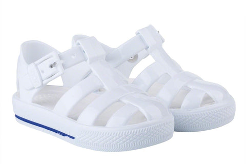 Igor Jellies - White 'Tenis Solid' Jelly Sandals -  Spoiled Rotten Childrenswear