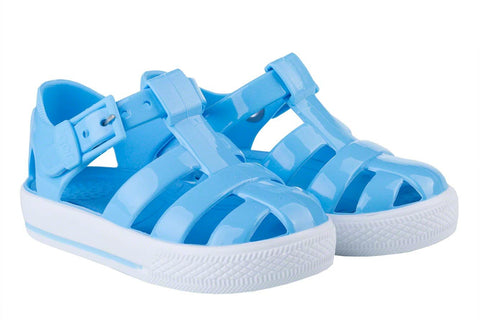 Igor Jellies - Bright Blue 'Tenis Solid' Jelly Sandals -  Spoiled Rotten Childrenswear