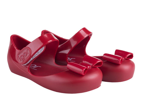 Igor Jellies - Igor Red Mia Jelly Shoes -  Spoiled Rotten Childrenswear