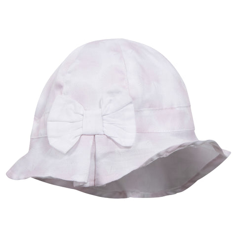 Absorba Baby Girl Pink & White Summer Hat -  Spoiled Rotten Childrenswear