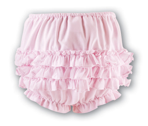 Sarah Louise Girls Pink Frilly Pants -  Spoiled Rotten Childrenswear