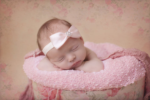 Cute Cute Satin Bow Headband -  Spoiled Rotten Childrenswear