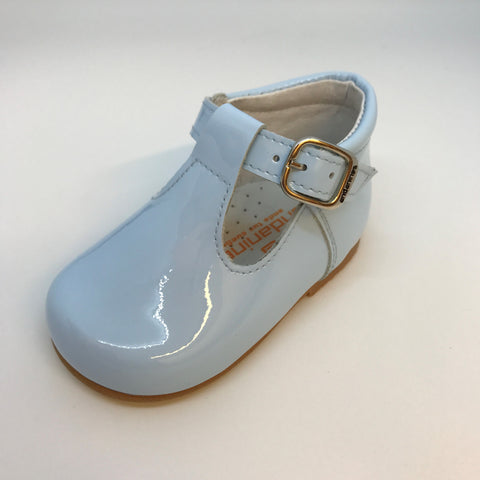 Andanines Blue Patent T-bar Shoes -  Spoiled Rotten Childrenswear