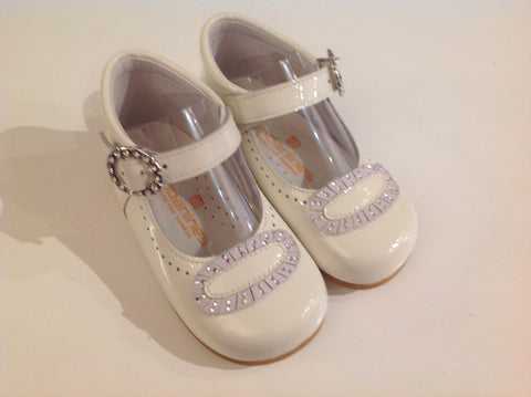 Andanines Girls Ivory Patent Leather Shoes -  Spoiled Rotten Childrenswear