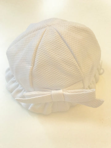 Sardon Girls White Sun Hat -  Spoiled Rotten Childrenswear