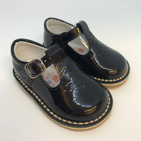 Andanines Boys Navy Patent Leather Sandals