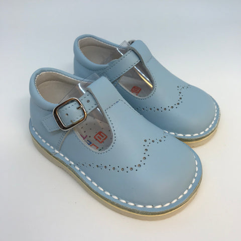 Andanines Boys Blue Leather Sandals