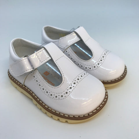 Andanines Boys White Patent Leather Sandals -  Spoiled Rotten Childrenswear