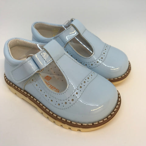 Andanines Boys Blue Patent Leather Sandals
