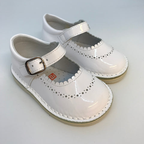 Andanines Girls White Patent Shoes -  Spoiled Rotten Childrenswear