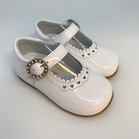 Andanines Girls White Patent Mary Jane Shoes - Last EU 18 -  Spoiled Rotten Childrenswear