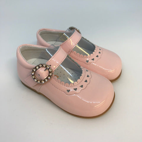 Andanines Girls Pink Patent Mary Jane Shoes -  Spoiled Rotten Childrenswear