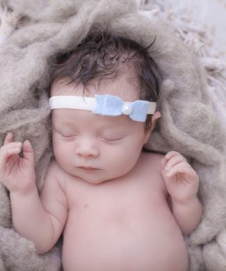 Cute Cute Blue Felt Bow Headband -  Spoiled Rotten Childrenswear