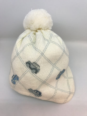 BARBARAS Baby Boys Ivory Car Hat - Last 3-6 months -  Spoiled Rotten Childrenswear