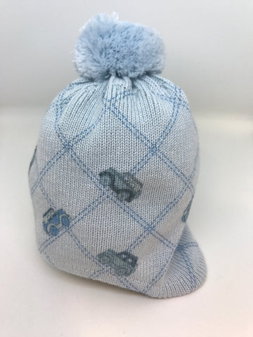 BARBARAS Baby Boys Blue Car Hat - Last 3-6 months -  Spoiled Rotten Childrenswear