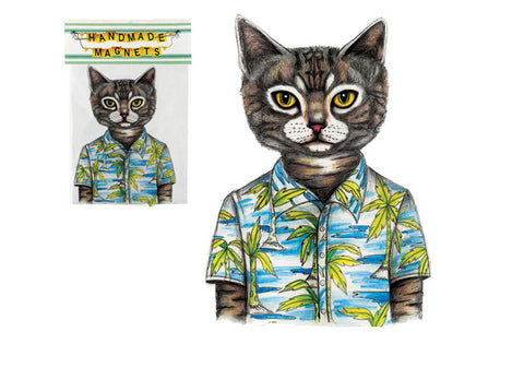 Hawaii Cat Magnet