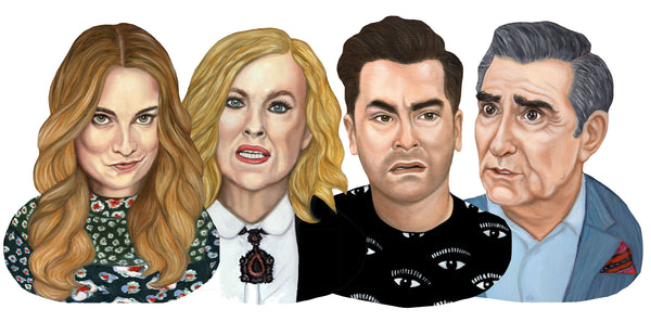 Schitt's Creek - Rose Family Magnet Set
