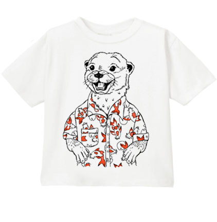 Otter with Koi Fish Toddler & Kids Tee
