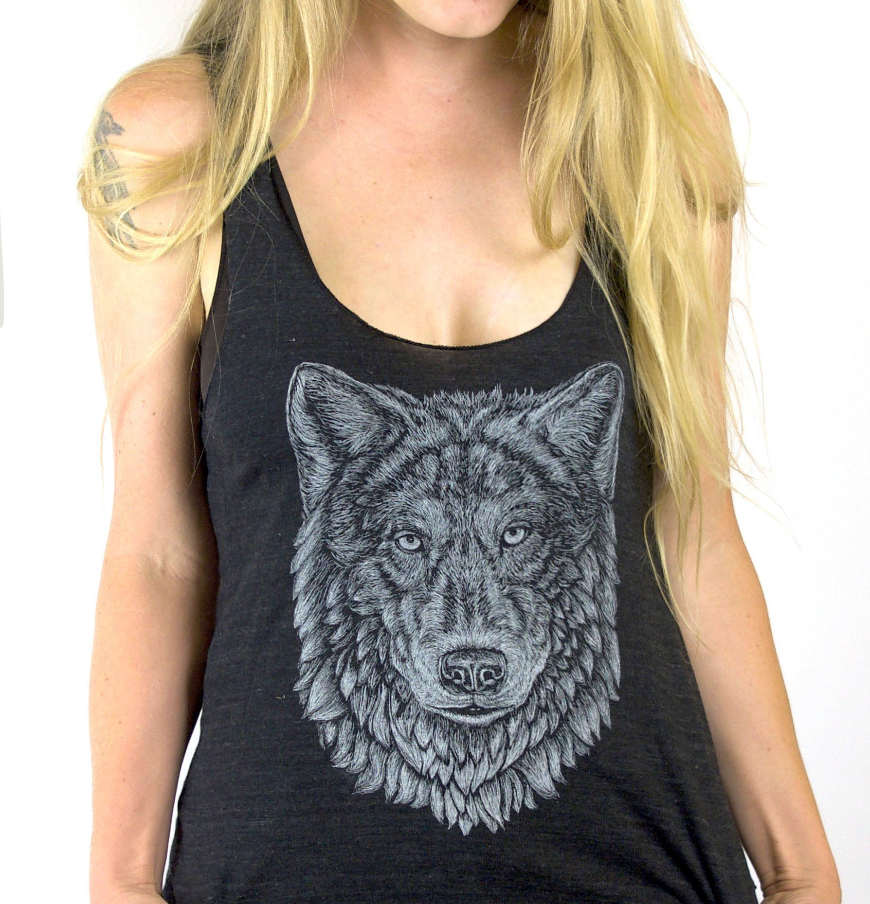 Wolf Ladies Tank Top