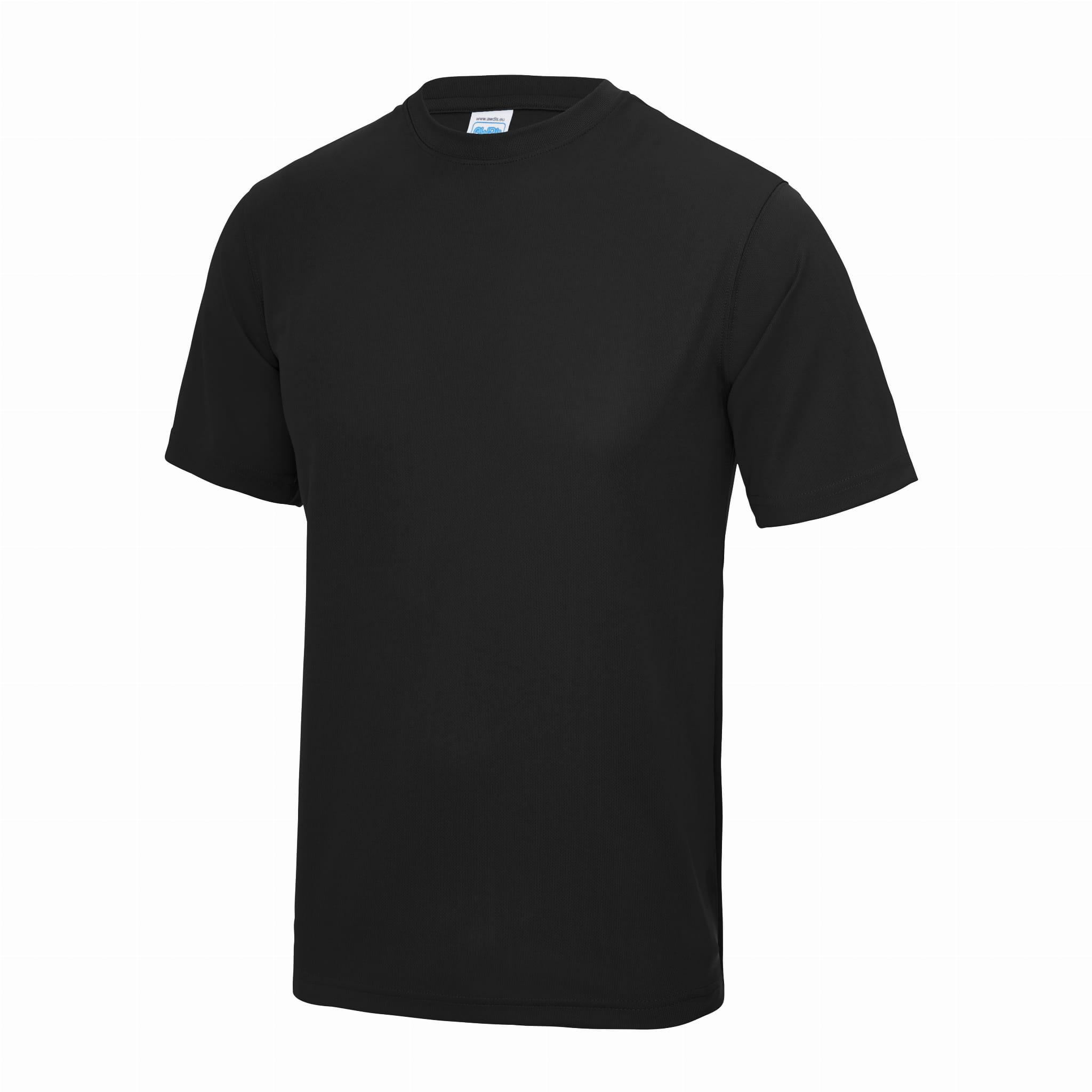 Large Black Unisex Sports T Shirt - choose logo