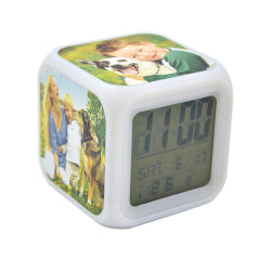 Digital Alarm Clock with Colour Changing Lights (UPLOAD YOUR OWN IMAGE/QUOTE)