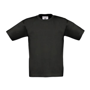 Kids Black Cotton T Shirt - choose logo