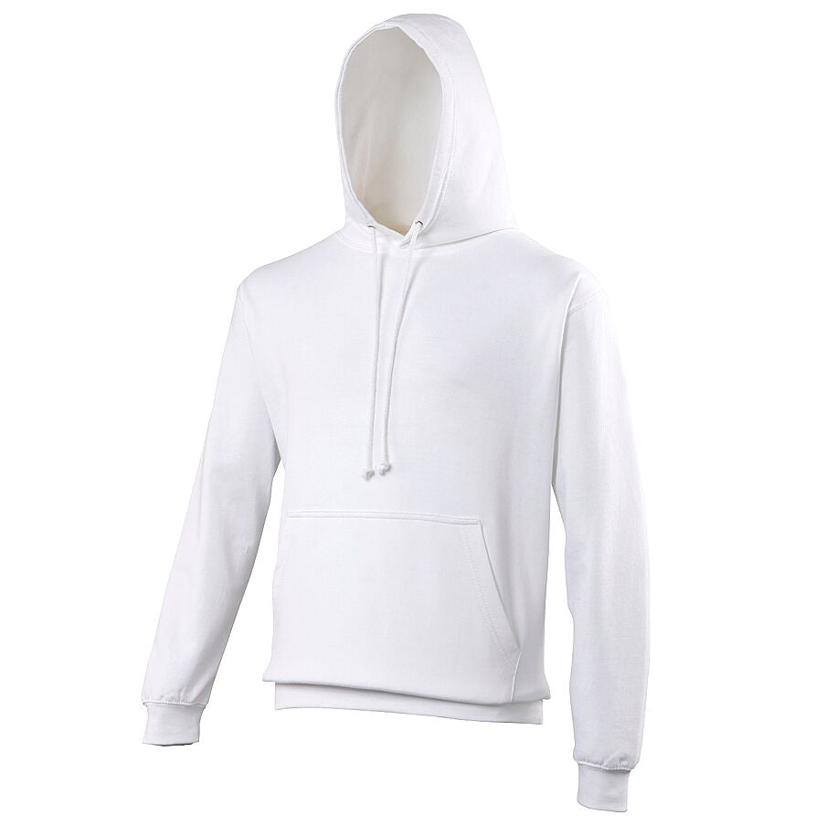 Large White Hoodie - choose logo
