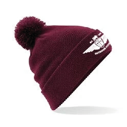 Burgundy Bobble Hat