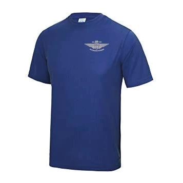 Large Royal Blue Sports T Shirt (Silver logo)