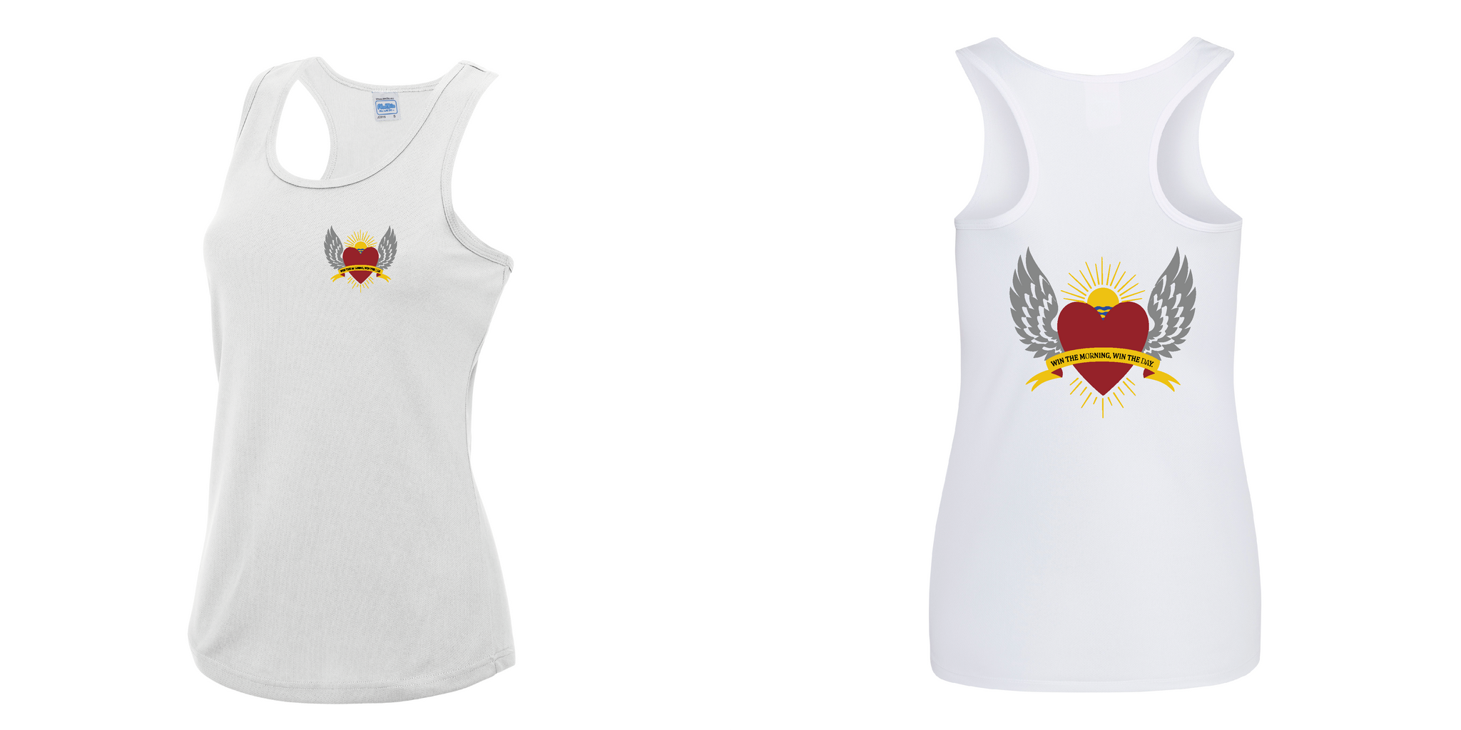 Ladies White Sports Vest