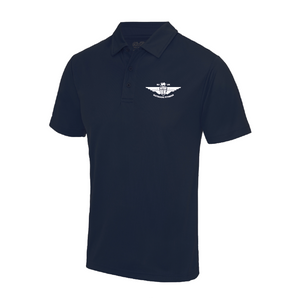 Large Navy Sport Polo Shirt