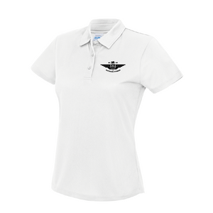 XXL White Ladies Sport Polo Shirt