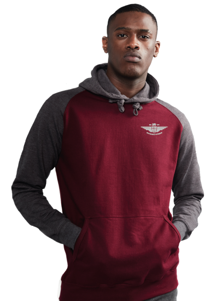 Medium Burgundy/Charcoal Hoodie
