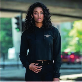 Medium Black Crop Hoodie