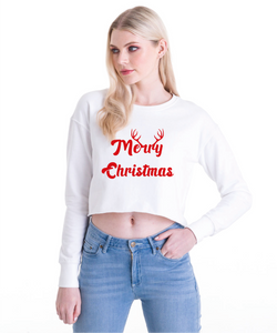 Cropped 'Merry Christmas' Jumper