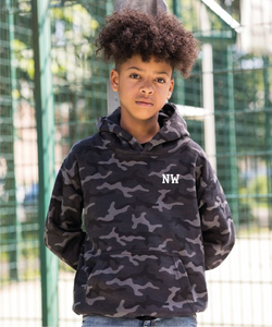 "Kids Camo ""initialled"" hoodie"
