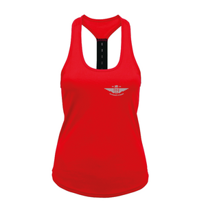 Small Red Ladies Strap back vest