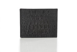 """333"" Black Crocodile Card Case"