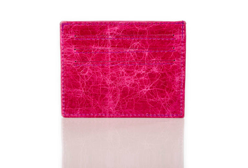"""333"" Fuchsia Distressed Card Case"