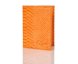 """10:10"" Orange Passport/Wallet"