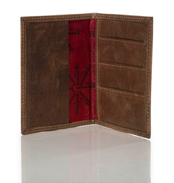 """10:10"" Distressed Leather Passport/Wallet"