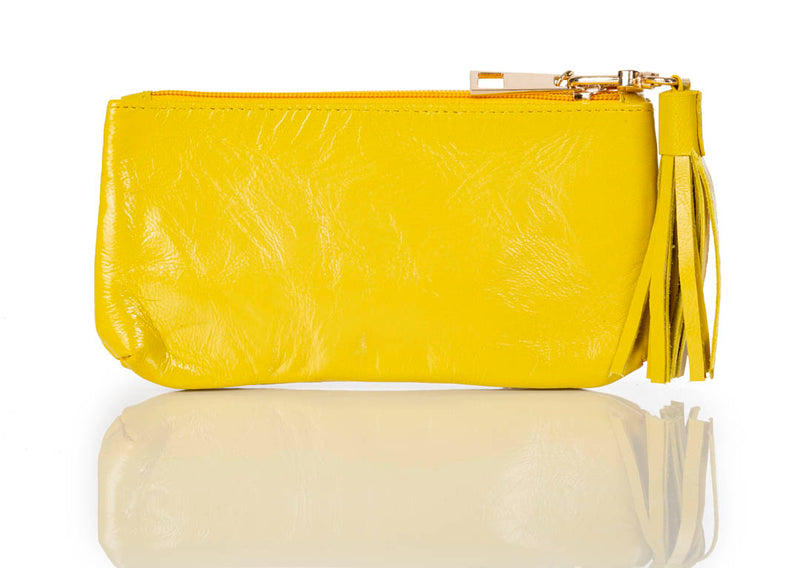 """888"" Lemon Lamb Leather Pouch/Wallet"