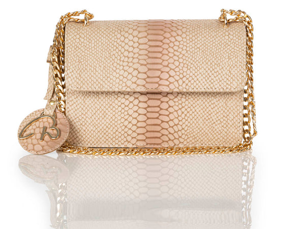 """12:12"" Ivory Ombre Shoulder Bag (Gold Hardware)"