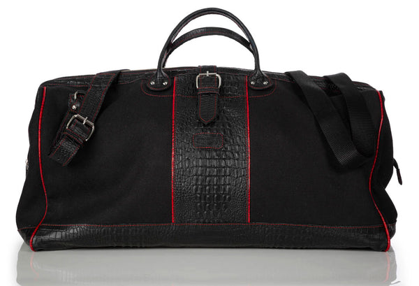 """555"" Black & Red Traveler Bag"