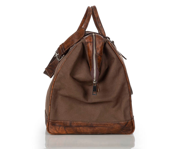 """555"" Gray/Brown Traveler Bag"