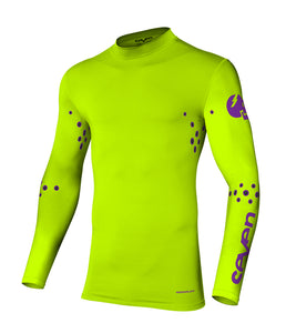 Zero Laser Cut Compression Jersey - Savage Flo Yellow
