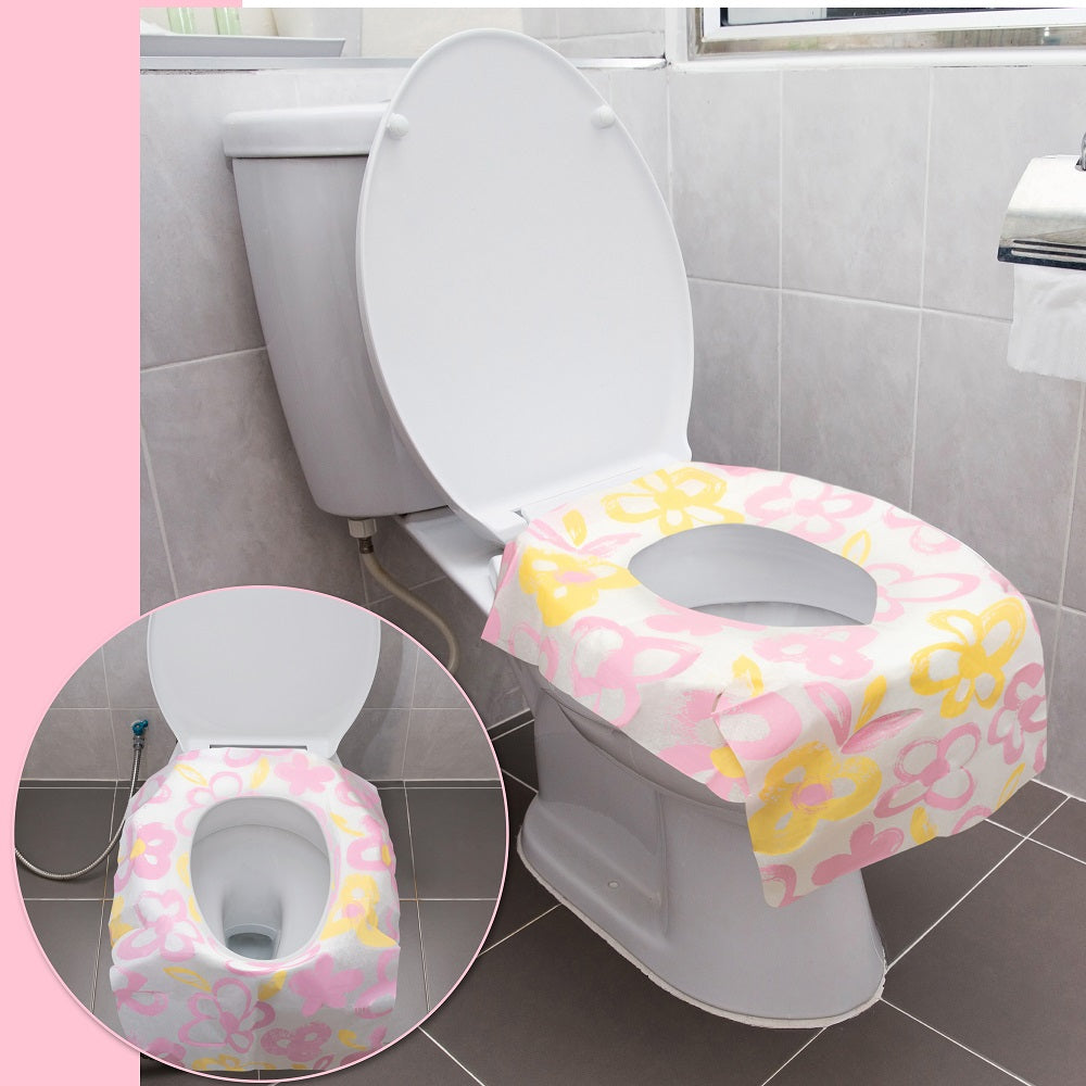 Pleasant Floral Xl Toilet Seat Covers Evergreenethics Interior Chair Design Evergreenethicsorg
