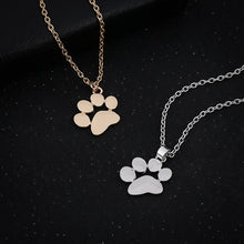 Load image into Gallery viewer, Dog Paw Print Necklace