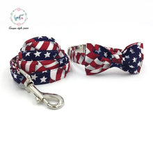 Load image into Gallery viewer, Dog Collar Set & Leash, Stars and stripes