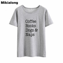 Load image into Gallery viewer, T-Shirt, Coffee Books Dog & Naps